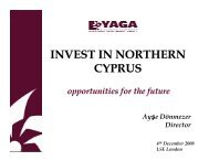 Northern Cyprus Invesment Promotion Conference within ... - yaga