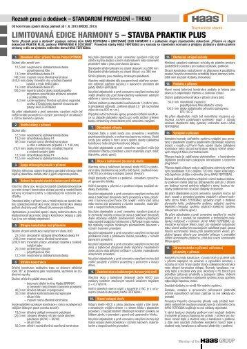 limitovaná edice harmony 5 – stavba praktik plus - Haas Fertigbau