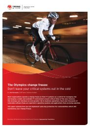The Olympics change freeze: Don't leave your critical ... - Trend Micro