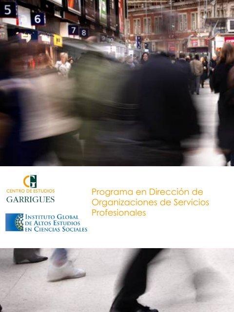 Programa - Instituto Global de Altos Estudios en Ciencias Sociales