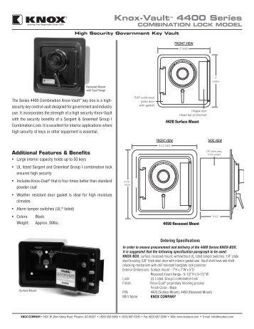 4400 Series Combination Lock Vault - Knox Box
