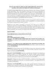 propuesta de estatuto para el círculo de egresados del instituto ...