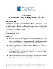 Diplomado Pensamiento Complejidad y Teoría del Caos