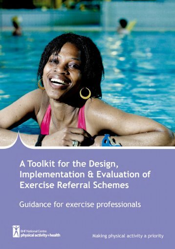 Guidance for exercise professionals This section includes general ...