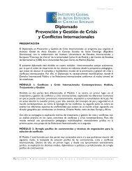 Diplomado Prevención y Gestión de Crisis y Conflictos Internacionales