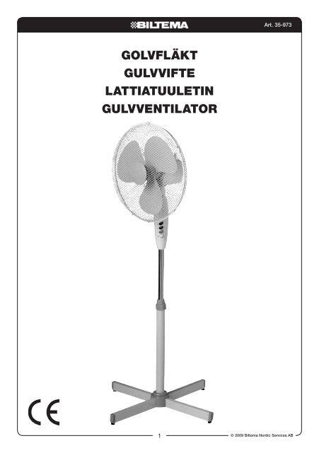 golvfläkt gulvvifte lattiatuuletin gulvventilator - Biltema f7ae955d0e