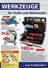 Werkzeuge für Profis und Heimwerker - Talkner