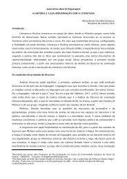 A história e a sua aproximação com a literatura, por Maria Roseli ...