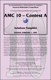 Solutions for the 2005 AMC 12A