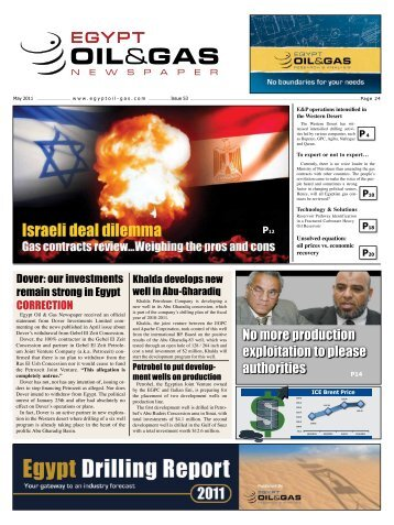 EOG Newspaper May 2011 Issue - Egypt Oil & Gas