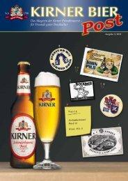 Das Magazin der Kirner Privatbrauerei – für Freunde ... - Kirner Bier