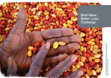 Bold Ideas, Better Lives Challenge - The Australian Centre for Social ...