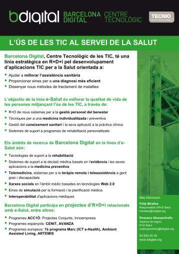 L'ÚS DE LES TIC AL SERVEI DE LA SALUT Barcelona Digital ...