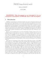 PISCES biogeochemical model - NEMO
