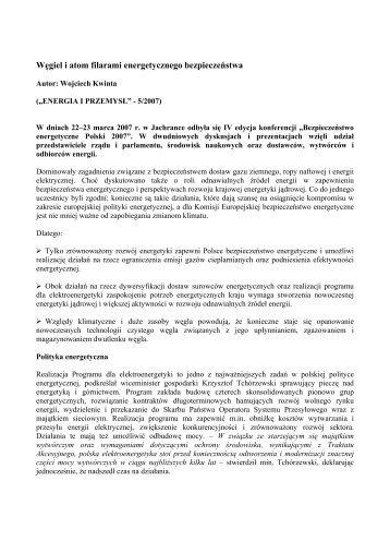 Węgiel i atom filarami energetycznego bezpieczeństwa - CIRE.pl