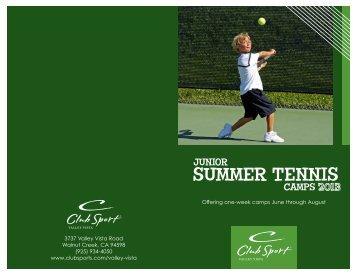2013 Junior Summer Tennis Camp Brochure