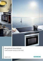 Siemens beépíthető háztartási gépek - AVmedia