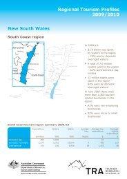 Regional Tourism Profiles 2009/2010 - Eurobodalla Coast Tourism