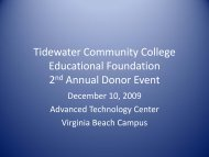 Tidewater Community College Educational Foundation 2nd Annual ...