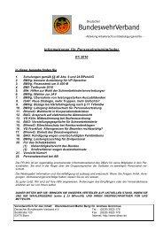 Informationen für Personalratsmitglieder 01/ 2010 - DBwV
