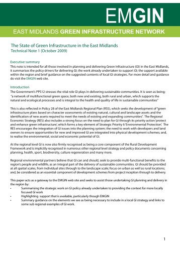 east midlands green infrastructure network - River Nene Regional ...