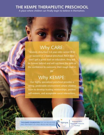 the kempe therapeutic preschool - Kempe Children's Center