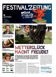 Festivalzeitung - St. Galler Tagblatt