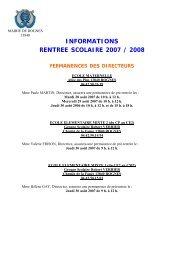 informations rentree scolaire 2007 / 2008 permanences ... - Rognes