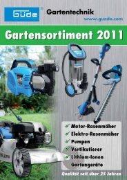 Gartensortiment 2011 - Taki Tech