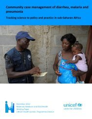 Community case management of diarrhea, malaria ... - CORE Group