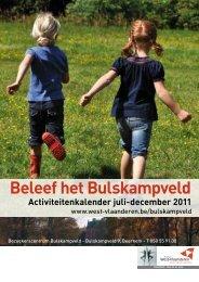 Beleef het Bulskampveld - Provincie West-Vlaanderen