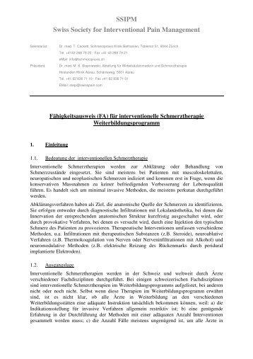 In Zusammenarbeit mit der SSIPM Swiss Society for ... - Qualitouch-HC