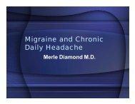 Migraine and Chronic Daily Headache - Blue Sky Broadcast