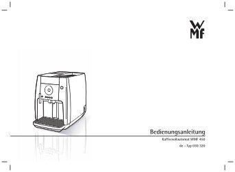 betriebsanleitung kaffeemaschine wmf. Black Bedroom Furniture Sets. Home Design Ideas