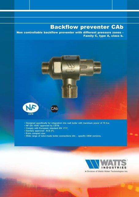 Backflow preventer CAb - Watts Industries