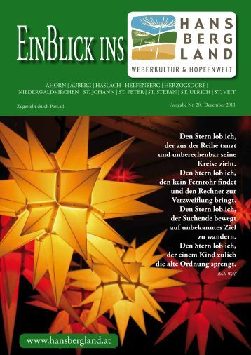 Ausgabe Dezember 2011 - Hansbergland