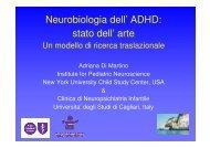 Neurobiologia dell' ADHD: stato dell' arte - Aidai