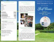 The Twelveth Annual RAK Porcelain FCCA Golf Classic, October 27 ...