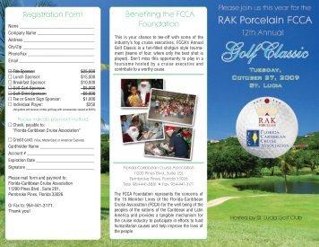 The Twelveth Annual RAK Porcelain FCCA Golf Classic, October 27 ...