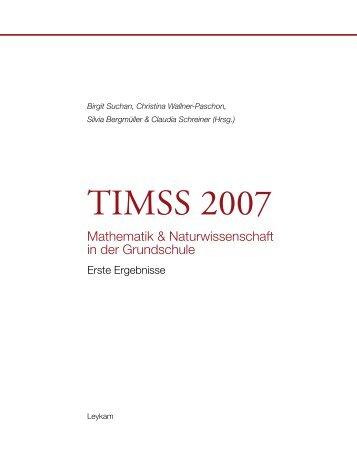 TIMSS 2007. Mathematik und Naturwissenschaft in der Grundschule