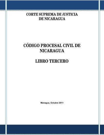 código procesal civil de nicaragua libro tercero - Poder Judicial
