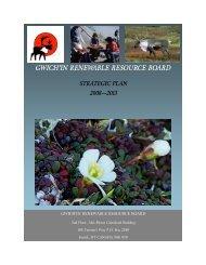 Strategic Plan 2008-2013 - Gwich'in Renewable Resources Board ...