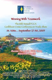 Conference Flyer (1mb) - The Florida-Caribbean Cruise Association