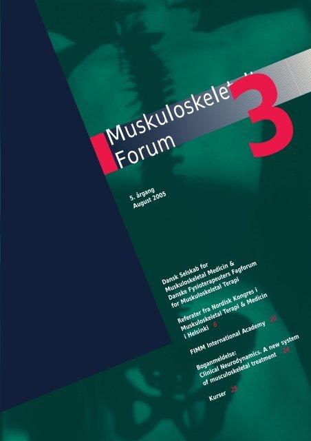 Muskuloskeletalt Forum - 3/2005 (pdf) - Fagforum for ...