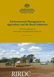 Environmental Management in Agriculture and the Rural Industries