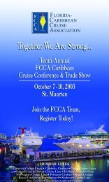 Conference Mailer - The Florida-Caribbean Cruise Association