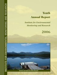 2006 Annual Report - Institute for Environmental Monitoring and ...