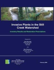 Still Creek Invasive Species Report - City of Burnaby