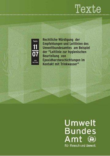 Rechtliche Würdigung der Empfehlungen und Leitlinien des ...