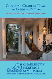 Download PDF Brochure - Preservation Society of Charleston